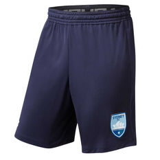 Sydney FC 2019/20 Mens Training Shorts Navy S, Navy, rebel_hi-res