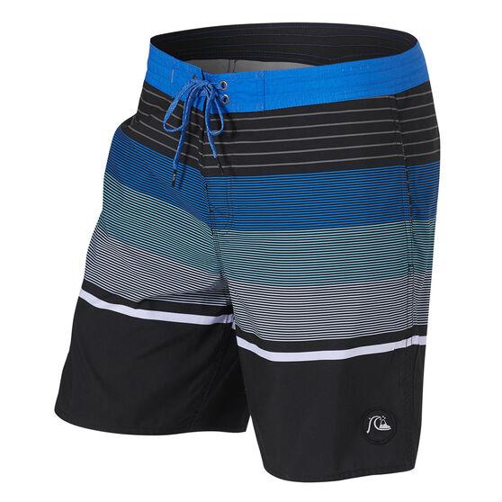 Quiksilver Mens Swell Vision Board Shorts, Black/Blue, rebel_hi-res