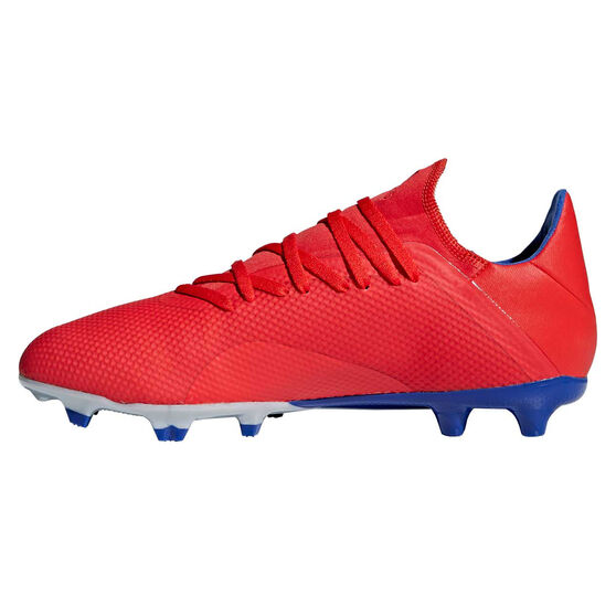 adidas X 18.3 Mens Football Boots, Red / Silver, rebel_hi-res