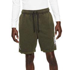 Jordan Dri-FIT Zion Mens Fleece Shorts Brown S, Brown, rebel_hi-res