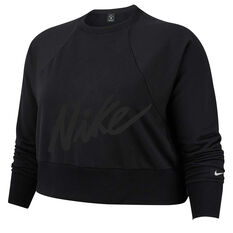 Nike Womens Dri FIT Training Top Plus Black 1X, Black, rebel_hi-res