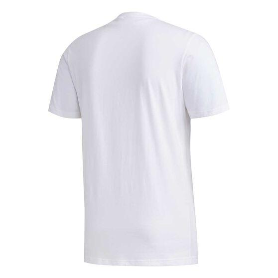adidas Mens Camo Box Tee White / Black XL, White / Black, rebel_hi-res