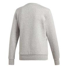 adidas Womens Essentials 3-Stripes Fleece Sweatshirt Grey XS, Grey, rebel_hi-res
