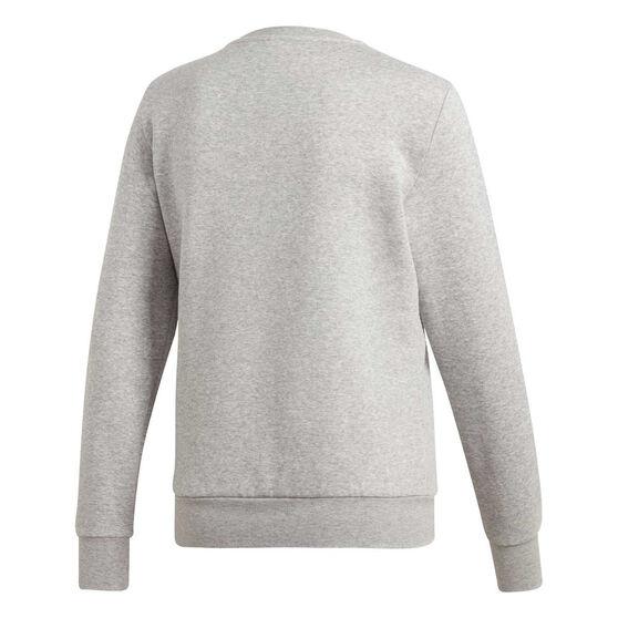 adidas Womens Essentials 3-Stripes Fleece Sweatshirt, Grey, rebel_hi-res