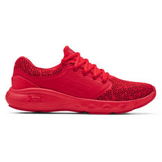 Under Armour Charged Vantage Knit Mens Running Shoes Red US 7, Red, rebel_hi-res