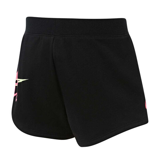 Nike Girls Shine Shorts Black 6, Black, rebel_hi-res