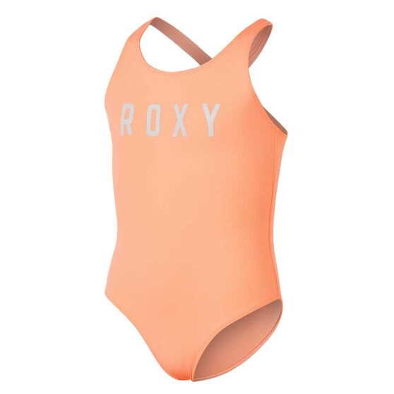 Roxy Girls Keep In Flow Swimsuit, Orange, rebel_hi-res