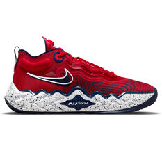 Nike Air Zoom G.T. Run Basketball Shoes Red US 7, Red, rebel_hi-res
