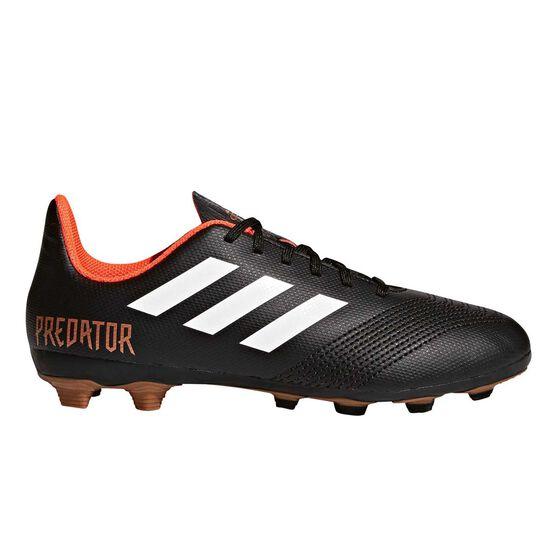 new styles 10c64 fcb8b adidas Predator 18.4 FXG Junior Football Boots Black   White US 11 Junior,  Black