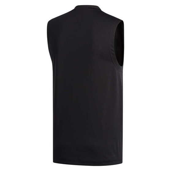 adidas Mens Aeroready 3 Stripe Tank, Black, rebel_hi-res