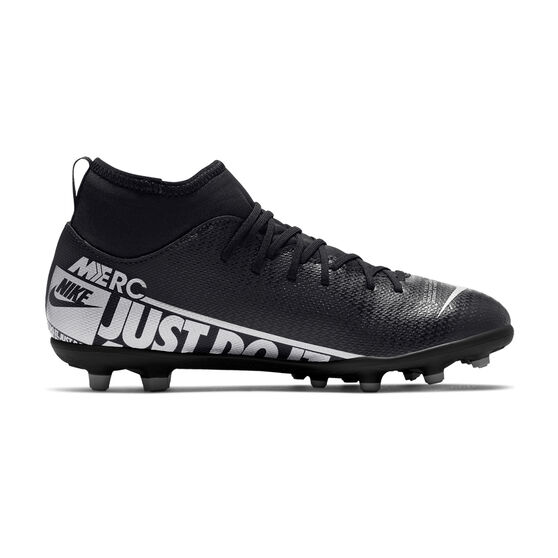 Nike Mercurial Superfly VII Club Kids Football Boots, Black / Grey, rebel_hi-res