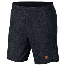 Nike Mens Court Flex Ace 9in Shorts Black XS, Black, rebel_hi-res