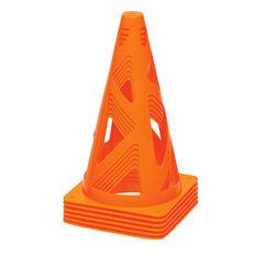 Achilles 6 Pack Flexi Training Cones Orange, , rebel_hi-res