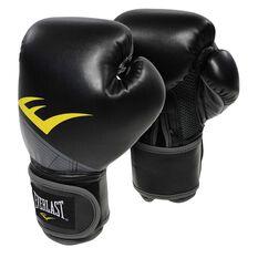 Everlast Pro Style Advanced Training Boxing Gloves Black 12oz, Black, rebel_hi-res