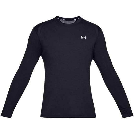 Under Armour Mens Streaker 2.0 Long Sleeved Tee, Black, rebel_hi-res