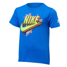 Nike Boys 90s Beach Party Tee Blue/Yellow 4, Blue/Yellow, rebel_hi-res
