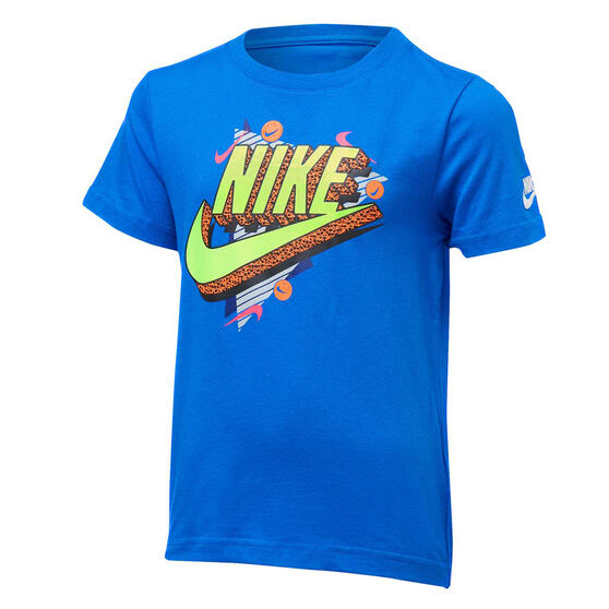 Nike Boys 90s Beach Party Tee, Blue/Yellow, rebel_hi-res