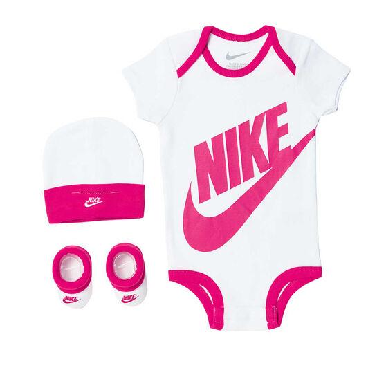 4b39b89a96 Nike Toddlers Futura Logo Boxed Set White / Pink 0-6 Months | Rebel ...