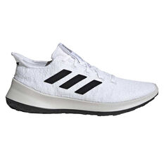 adidas Sensebounce+ Womens Running Shoes White / Black US 6, White / Black, rebel_hi-res