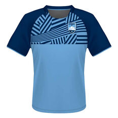 Sydney FC Mens Supporter Training Tee Blue S, Blue, rebel_hi-res