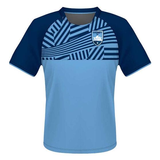 Sydney FC Mens Supporter Training Tee, Blue, rebel_hi-res