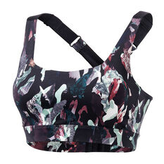 Ell & Voo Womens Shelby Impact Sports Bra Print XS, Print, rebel_hi-res
