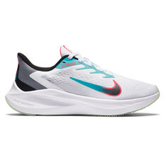 Nike Zoom Winflo 7 Womens Running Shoes, White/Black, rebel_hi-res