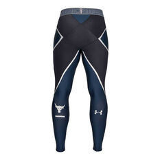 Under Armour Mens Project Rock Core Leggings Navy S, Navy, rebel_hi-res
