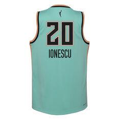 Nike New York Liberty Sabrina Ionescu 2021 Kids Basketball Jersey Teal S, Teal, rebel_hi-res