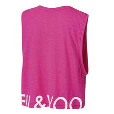 Ell & Voo Girls Rocky Cropped Muscle Tank, Pink, rebel_hi-res