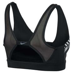 Nike Womens Distort Indy Plunge Sports Bra Black XS, Black, rebel_hi-res