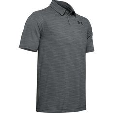 Under Armour Mens Tour Tips Seamless Polo Shirt Steel Grey S, Steel Grey, rebel_hi-res