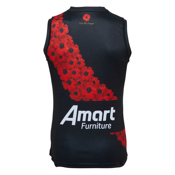 Essendon Bombers 2021 Mens Anzac Guernsey, Black/Red, rebel_hi-res