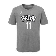 Jordan Brooklyn Nets Kyrie Irving 2020/21 Kids Statement Tee Grey S, Grey, rebel_hi-res