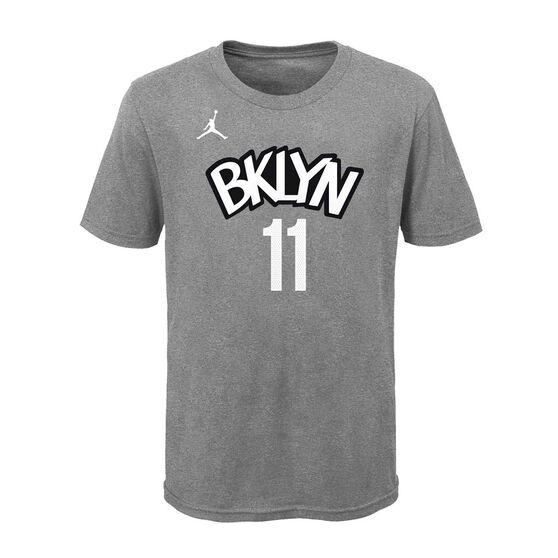Jordan Brooklyn Nets Kyrie Irving 2020/21 Kids Statement Tee, Grey, rebel_hi-res