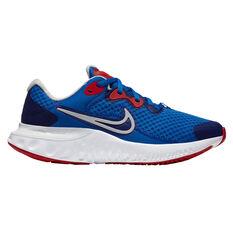 Nike Renew Run 2 Kids Running Shoes Blue/Red US 4, Blue/Red, rebel_hi-res