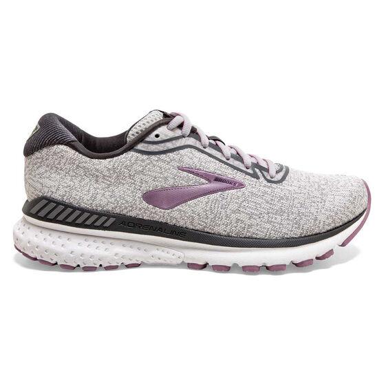 Brooks Adrenaline GTS 20 Womens Running Shoes, Grey/White, rebel_hi-res