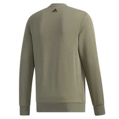 adidas Mens Must Haves Badge of Sport Sweatshirt Green S, Green, rebel_hi-res