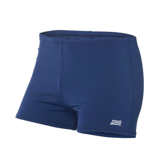 Zoggs Mens Cottesloe Hip Racer Trunk Blue 24, Blue, rebel_hi-res