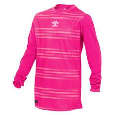 Umbro Goal Keeper Jersey Pink XS YTH, Pink, rebel_hi-res