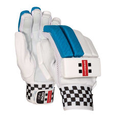 Gray Nicolls 500 Junior Cricket Batting Gloves Blue Youth Right Hand, Blue, rebel_hi-res