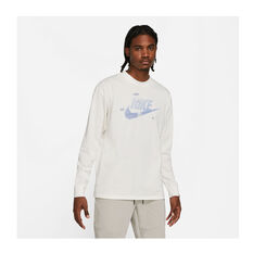 Nike Mens Sportswear Long Sleeve Tee White XS, White, rebel_hi-res