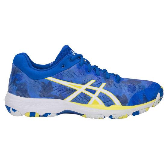 Asics Netburner Professional FF Womens Netball Shoes, Blue / White, rebel_hi-res