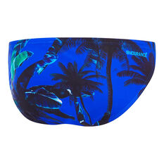 Speedo Mens Endurance Hype Palm Swim Briefs Blue 14, Blue, rebel_hi-res