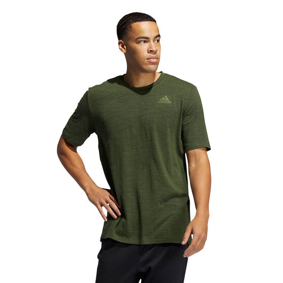 adidas Mens City Elevated Training Tee, Khaki, rebel_hi-res