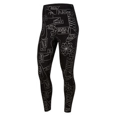 Nike Womens Icon Clash Sportswear High Waisted Tights Black XS, Black, rebel_hi-res