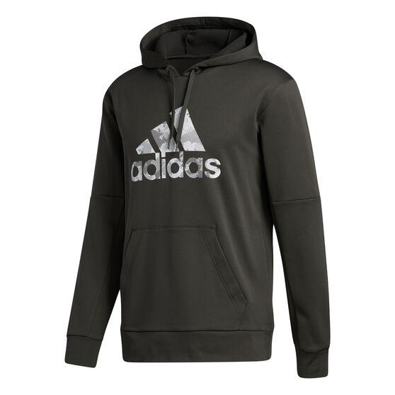 adidas Mens Go Big Badge of Sport Hoodie, Grey, rebel_hi-res
