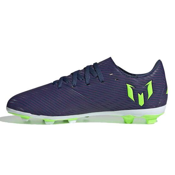adidas Nemeziz Messi 19.4 Kids Football Boots, Navy / Green, rebel_hi-res