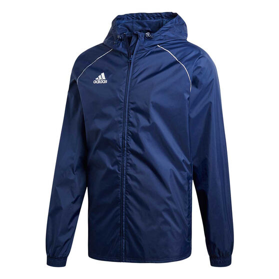 adidas Mens Core 18 Rain Jacket, Navy / White, rebel_hi-res