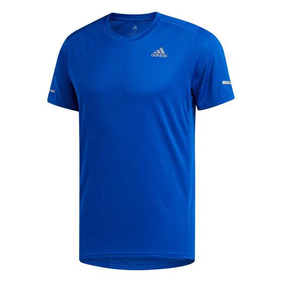 adidas Mens Run Tee, Blue, rebel_hi-res